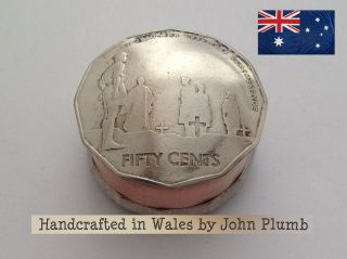 1983 / 2005 Australia 50 Cents Coin Snuff Box Or Pill Pot.  Stash Pot. photo