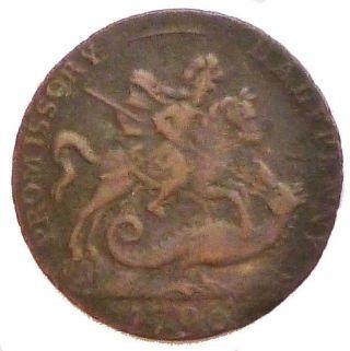 1796 Promissory Large Half Penny Token photo