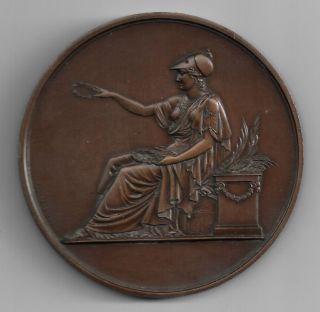 French - 1880s Huge - 65mm Copper Medal Laurent De Rille ' /les Societes Chorales photo