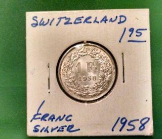 Switzerland Franc,  1958 photo