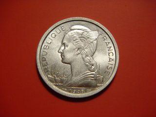 Reunion 2 Francs,  1948 Coin photo
