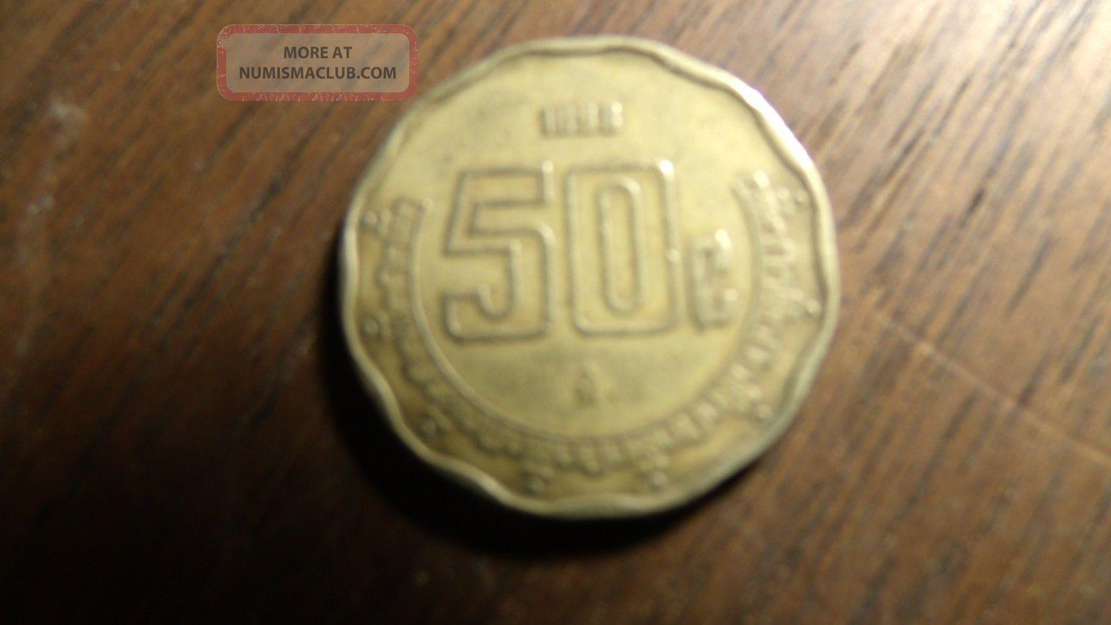1898 Mexican 50 Centavos Coin Mexico photo