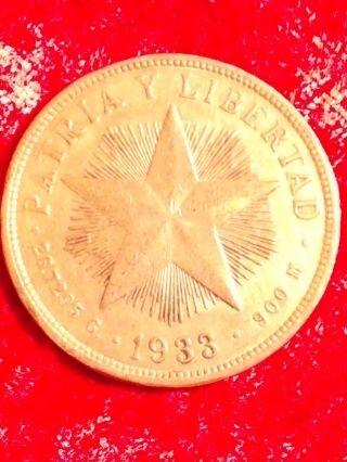 1933 Islacuba One Peso