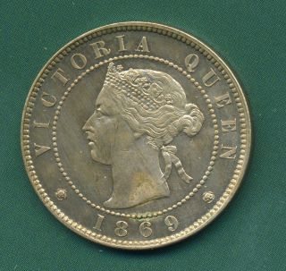 1869 Jamaica Halfpenny. photo