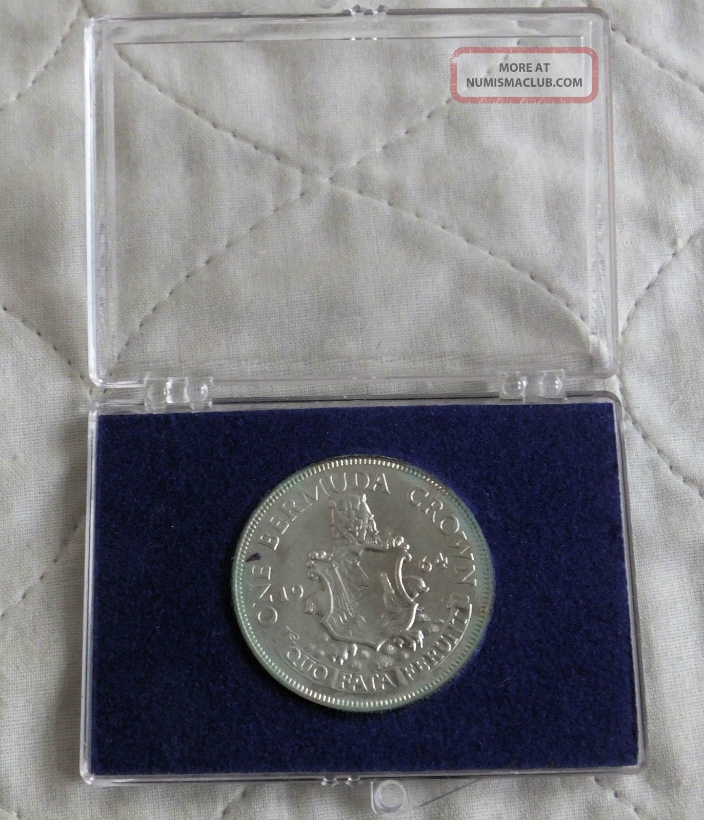 Bermuda 1964 Silver Crown - Cased South America photo