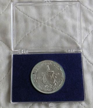Bermuda 1964 Silver Crown - Cased photo