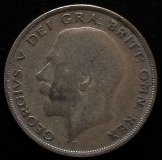 King George British Half Crown Silver 1921 photo