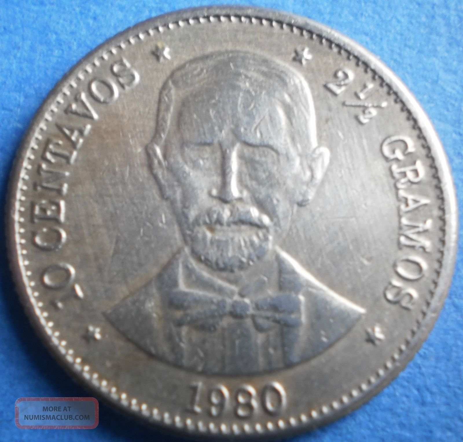 Dominican Republic 10 Centavos 1980 Dominicana