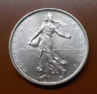 1962 France Silver 5 Francs - Uncirculated photo