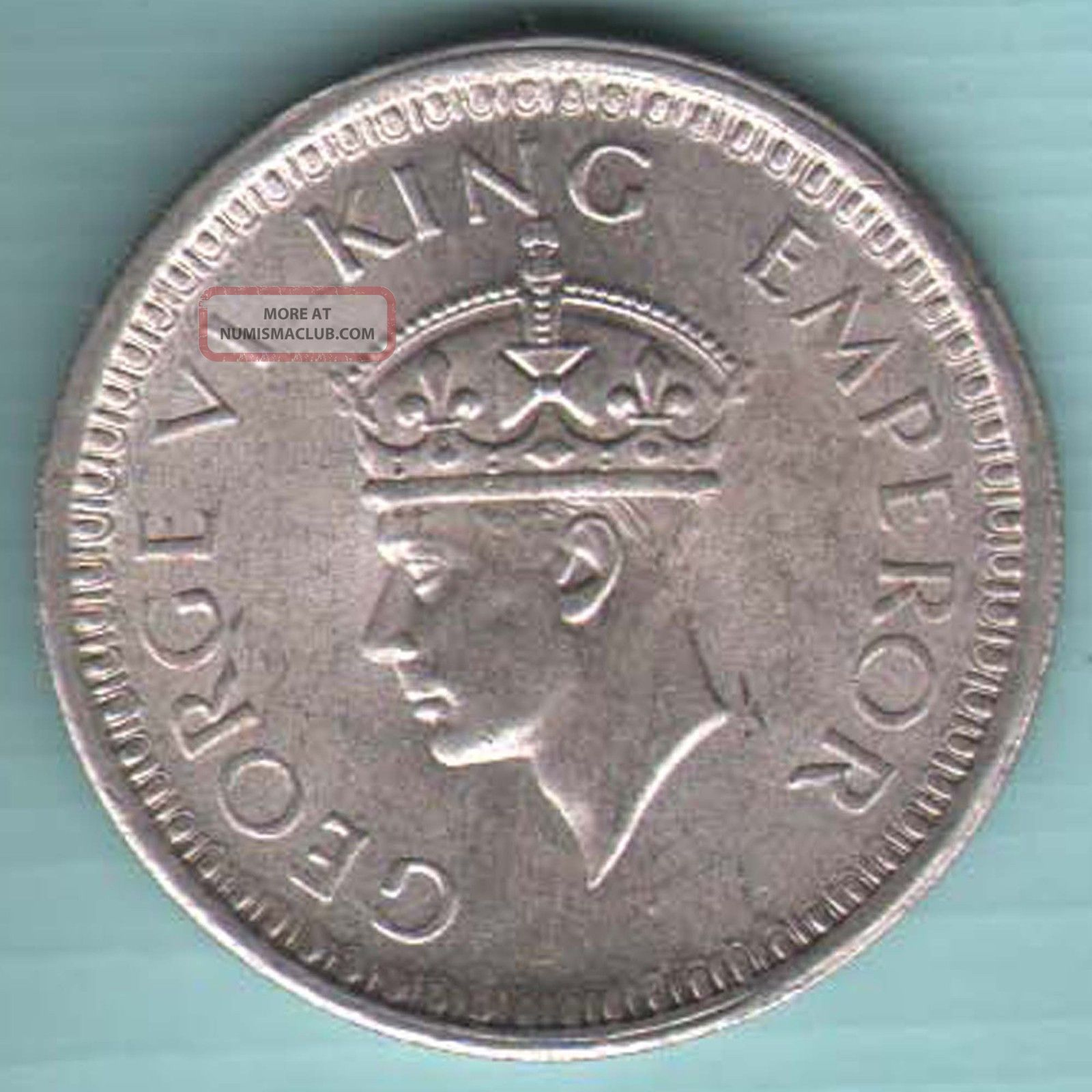 British India - 1945 - Lahore - One Rupee - Kg Vi - Rare Silver Coin - K22 India photo