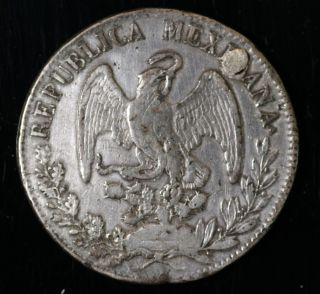 1832 Mexico.  720 Large Silver World Crown,  Circulated photo