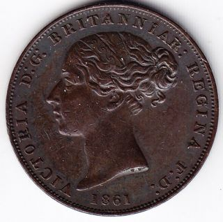1861 States Of Jersey 1/26 Shilling Coin - Ef photo