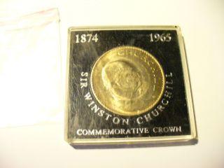 1 Sir Winston Churchill Commemorative Crown Coin 1874 1965 photo