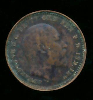 Great Britain 1902 1/3 Farthing (bronze) photo