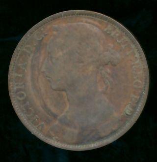Great Britain 1884 Penny (bronze) photo