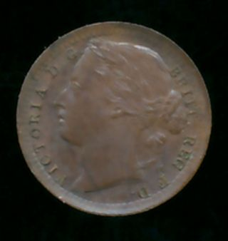 Great Britain 1884 1/3 Farthing (bronze) photo