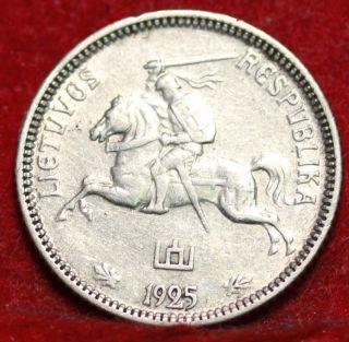 1925 Lithuania 1 Lita Foreign Coin S/h photo