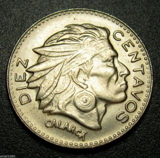 Colombia 10 Centavos Coin 1962 Km 212.  2 Chief Calarca Key Date photo