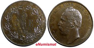 Sweden Bronze Carl Xv Adolf 1872 5 Ore Choice Unc Low Km 707 photo