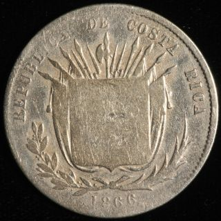 Costa Rica 50 Centavos,  1866.  Km 112. photo