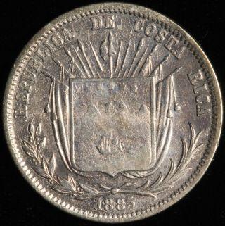 Costa Rica 50 Centavos,  1885 Gw.  Km 124. photo