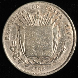Costa Rica 50 Centavos,  1865.  Km 112. photo