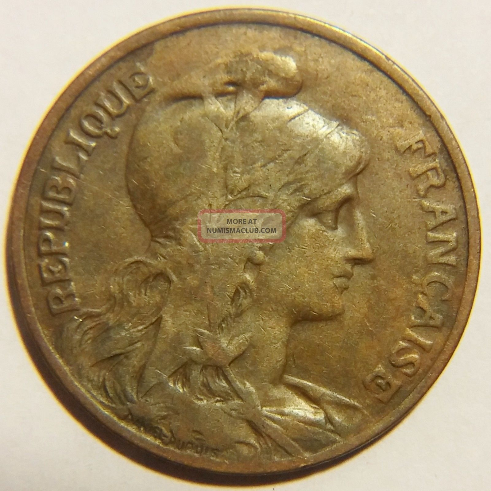 Rare 1913 France 10 Centimes Km 843 Very Fine Europe photo