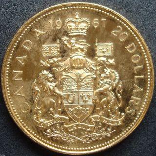 1967 Canada Proof Twenty Dollar.  5287 Ounce Gold Coin photo