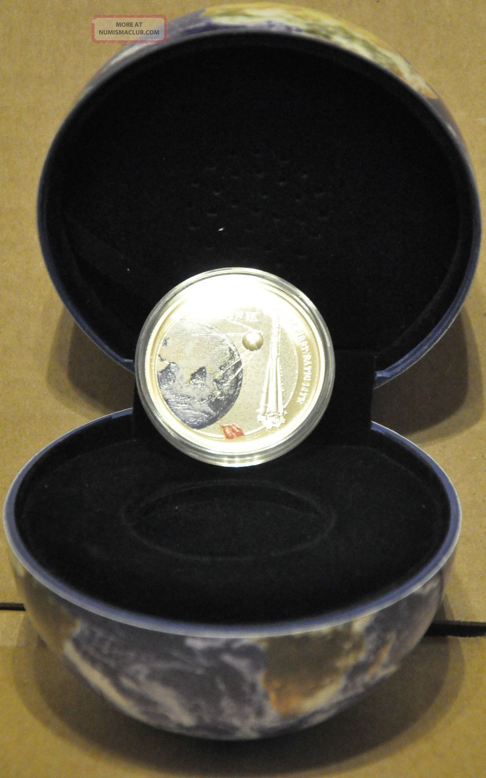 2007 Fiji 2 1957 Sputnik 1oz Silver Coin Colored