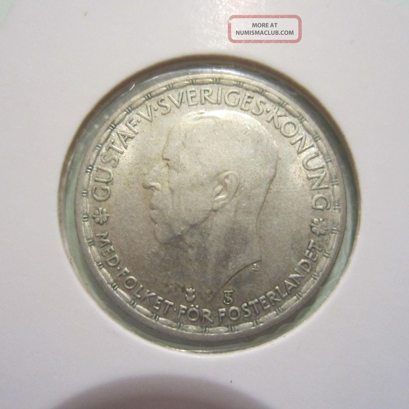 Sweden Krona Silver Coin 1946.