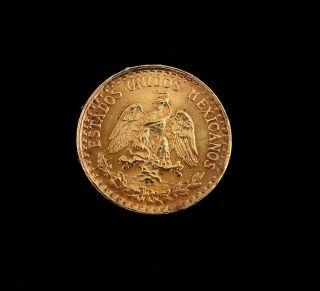 1945 Mexico Dos Pesos Gold Coin photo