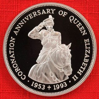 Belize: 1993 Proof $2,  Qeii Coronation 40th, .  925 Silver,  Capsule - Top Grade photo