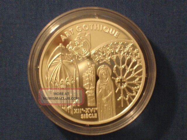 France 6,  55957 Francs Silver Proof 1999 Renaissance Gothic Art W/box & Europe photo