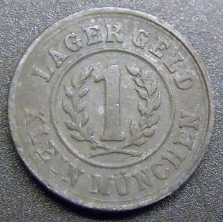 Austria,  1915 1 Heller Lagergeld Klein Munchen Pow Currency Token Au,  (3 Pics) photo