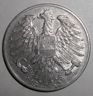 1952 Austria 5 Schilling Coin photo