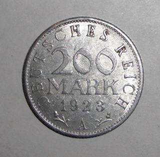 1923 - A Germany 200 Marks,  Eagle,  Coin photo