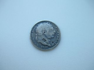 1817 Silver Coin:great Britain: 197 Years Old photo