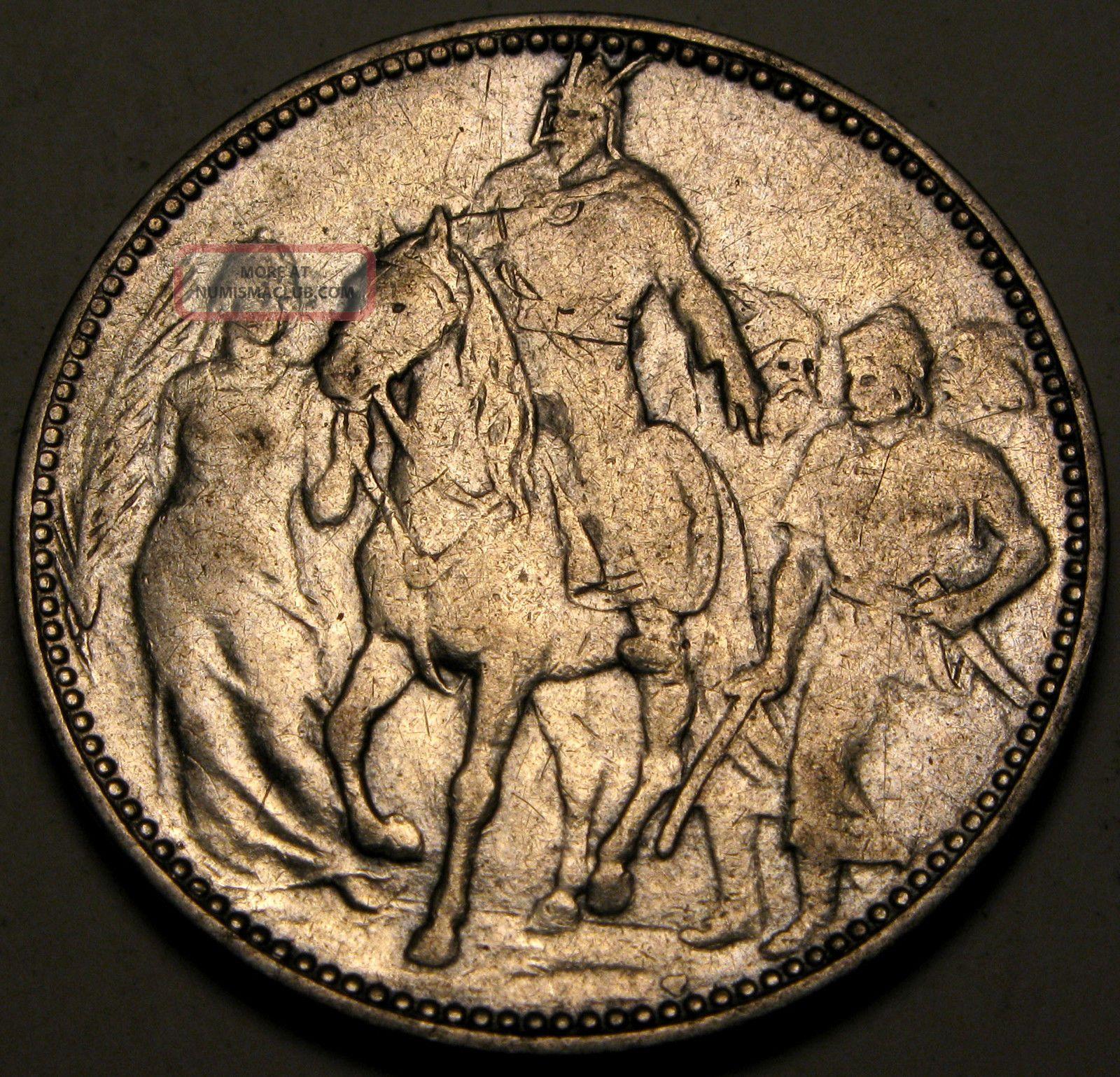 Hungary 1 Korona 1896 - Silver - Millennium Commemorative - Franz Joseph I.  - 2667 Europe photo