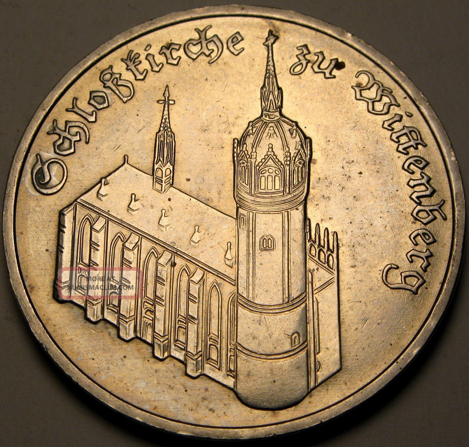 Germany (ddr) 5 Mark 1983 A - Copper/nickel - Wittenberg Church - Xf/aunc - 2674 Germany photo