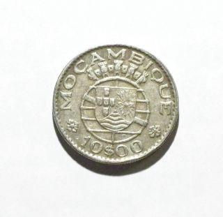 1970 Mozambique 10 Escudos Coin photo