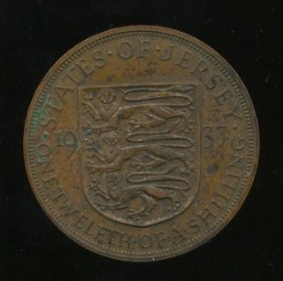 Jersey 1/12 Shilling 1937 Km 18 King George Vi photo