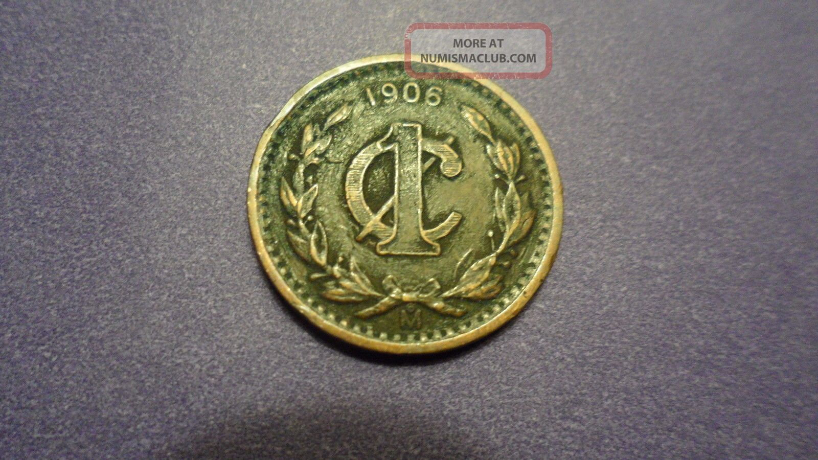 Mexico 1906,  One Centavo.  You Decide Variety. Coins: World photo