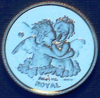 Gibraltar 1/25 Royal.  999 Gold Proof 1998 Love Angel - photo