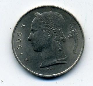 Belgium 1 Franc 1950.   107 photo