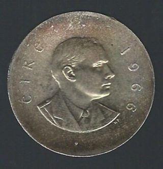 1966 Ireland 50th Anniversary Of Irish Uprising Silver 10 Shillings Unc. photo