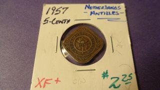 Netherlands Antilles 1957,  Five Cents.  Details photo