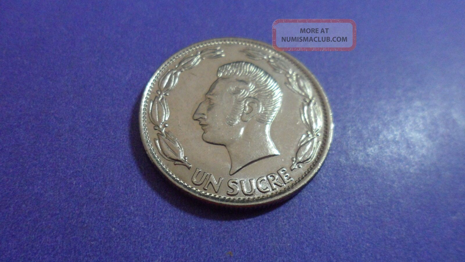 Ecuador 1980,  One Sucre.  Uncirculated? Dig Those Sideburns Coins: World photo