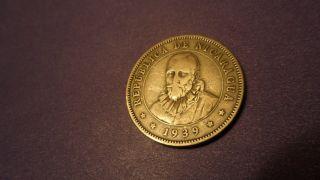 Nicaragua 1939,  Twenty - Five Centavos.  Looking Vintage Coin. photo