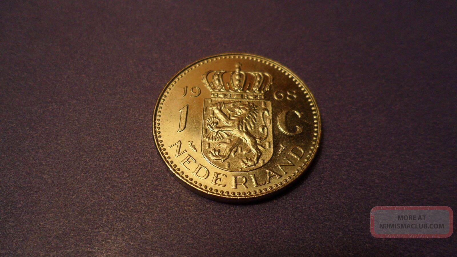 Netherlands 1968,  One Gulden.  Sharp Looking Coin. Coins: World photo
