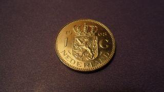 Netherlands 1968,  One Gulden.  Sharp Looking Coin. photo